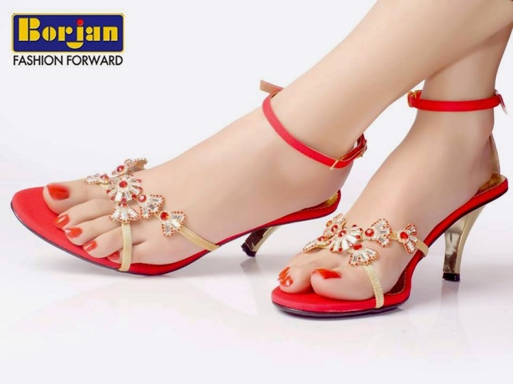Fashion Style Borjan Shoes Collection 2014 For Women Girls Ladies Fancy Wedding Bridal Brides