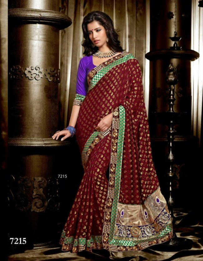 Wedding-Bridals-Indian-Printed-Colorful-Garnet-Red-Sarees-New-Fashion-Sari-Dress-for-Girls-Women-12