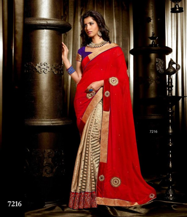 Wedding-Bridals-Indian-Printed-Colorful-Garnet-Red-Sarees-New-Fashion-Sari-Dress-for-Girls-Women-14