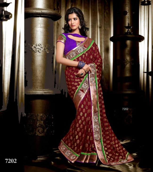 Wedding-Bridals-Indian-Printed-Colorful-Garnet-Red-Sarees-New-Fashion-Sari-Dress-for-Girls-Women-15