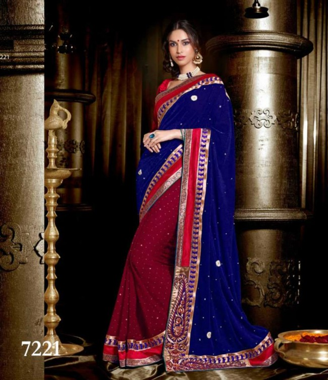 Wedding-Bridals-Indian-Printed-Colorful-Garnet-Red-Sarees-New-Fashion-Sari-Dress-for-Girls-Women-16