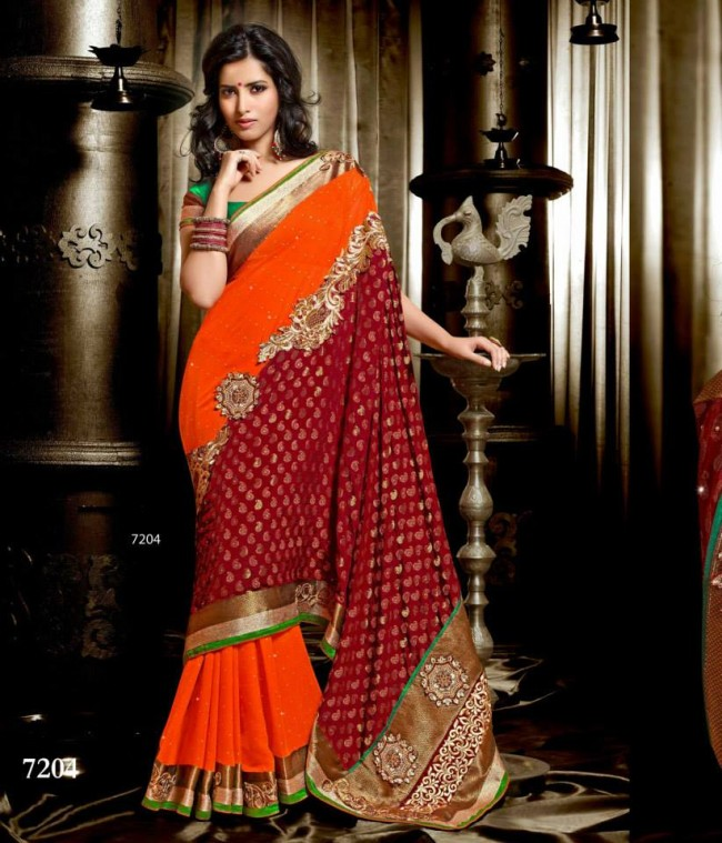 Wedding-Bridals-Indian-Printed-Colorful-Garnet-Red-Sarees-New-Fashion-Sari-Dress-for-Girls-Women-18