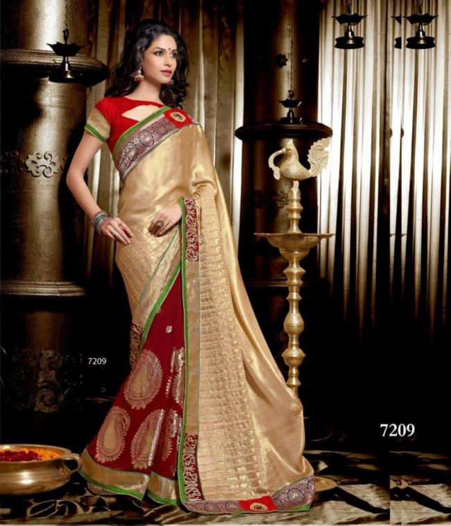 Wedding-Bridals-Indian-Printed-Colorful-Garnet-Red-Sarees-New-Fashion-Sari-Dress-for-Girls-Women-8