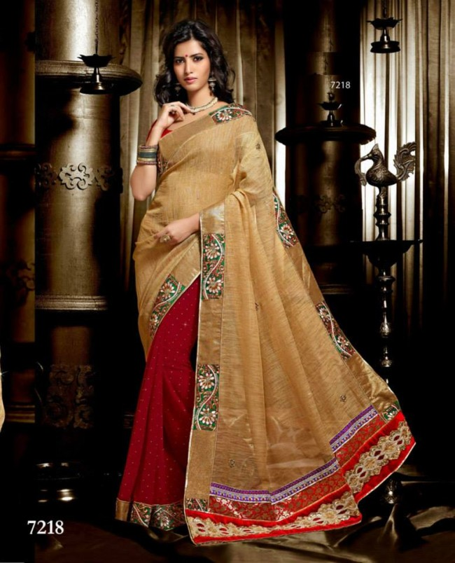 Wedding-Bridals-Indian-Printed-Colorful-Garnet-Red-Sarees-New-Fashion-Sari-Dress-for-Girls-Women-9