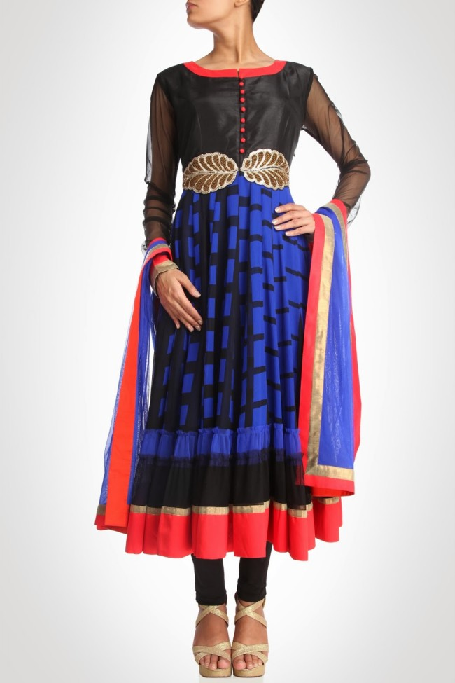 Anarkali-Churidar-Shalwar-Kamiz-New-Fashion-Style-Frock-Suits-by-Designer-Debashri-Samanta-7