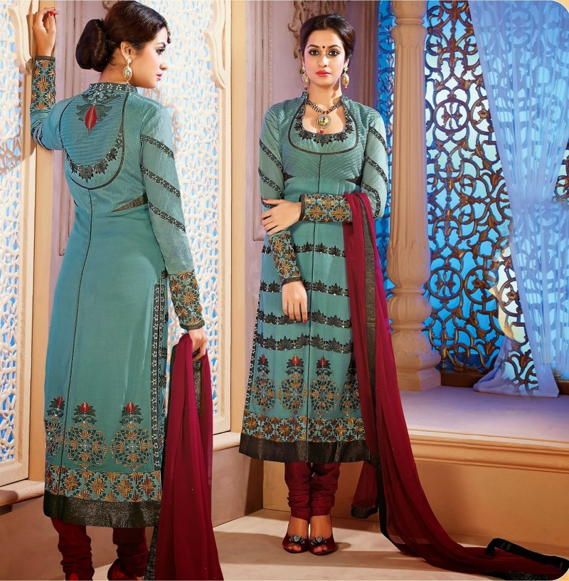 Beautiful-Girls-Wear-Long-Fancy-Anarkali-Churidar-Salwar-Suits-New-Fashion-Dress-9