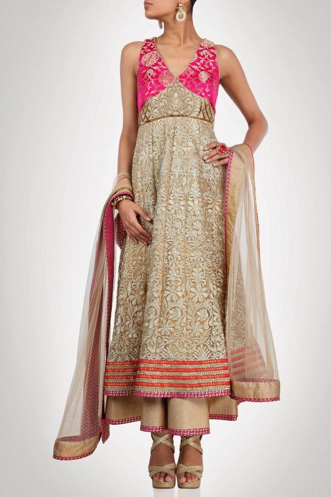 Indian-Fashion-Wedding-Bridal-Wear-Anarkali-Lehnga-Choli-Dress-by-Designer-Vandana-Sethi-1