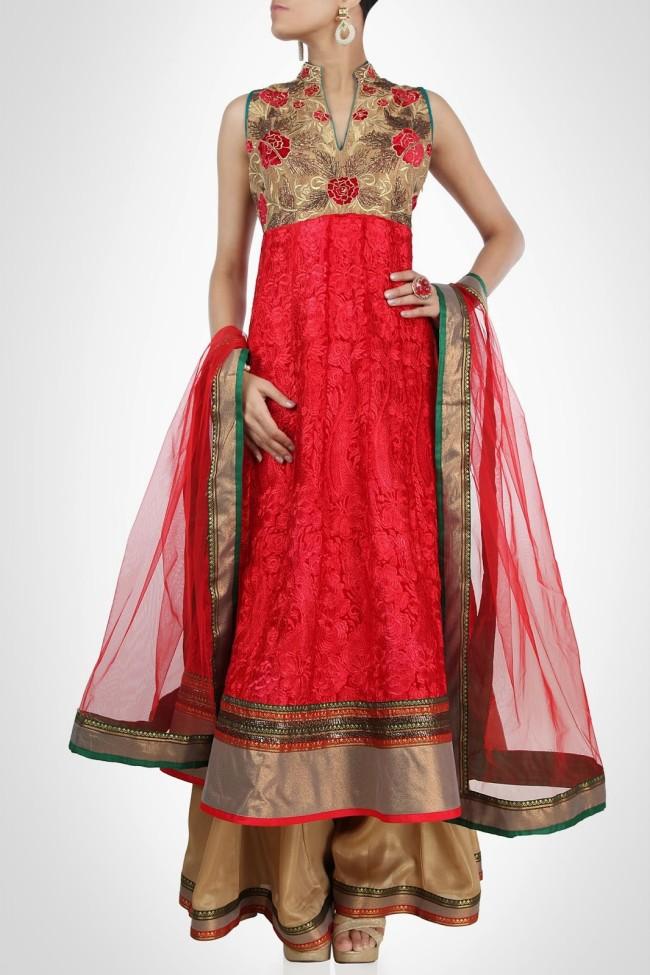 Indian-Fashion-Wedding-Bridal-Wear-Anarkali-Lehnga-Choli-Dress-by-Designer-Vandana-Sethi-3