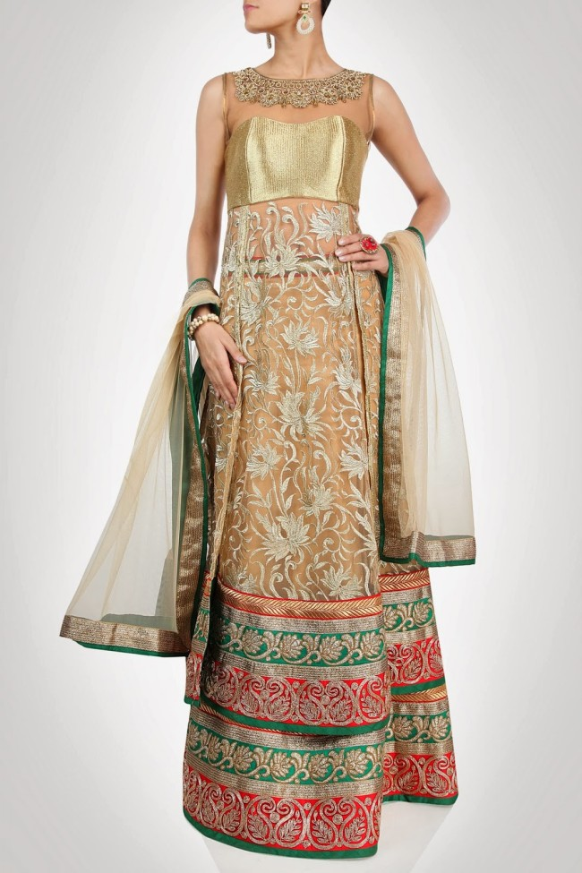 Indian-Fashion-Wedding-Bridal-Wear-Anarkali-Lehnga-Choli-Dress-by-Designer-Vandana-Sethi-5