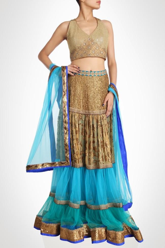 Indian-Fashion-Wedding-Bridal-Wear-Anarkali-Lehnga-Choli-Dress-by-Designer-Vandana-Sethi-9