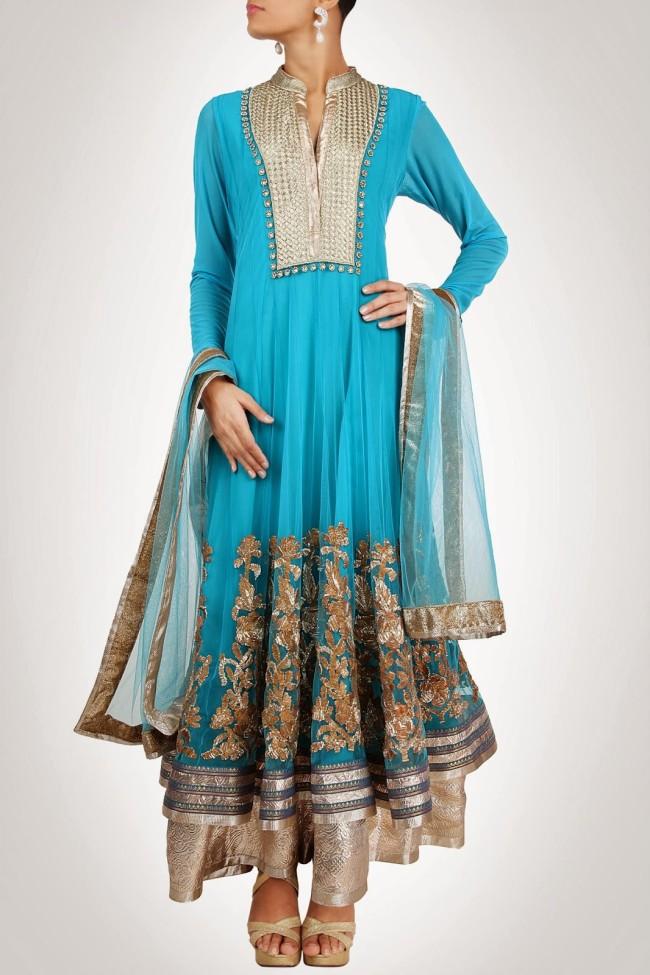 Indian-Fashion-Wedding-Bridal-Wear-Anarkali-Lehnga-Choli-Dress-by-Designer-Vandana-Sethi-