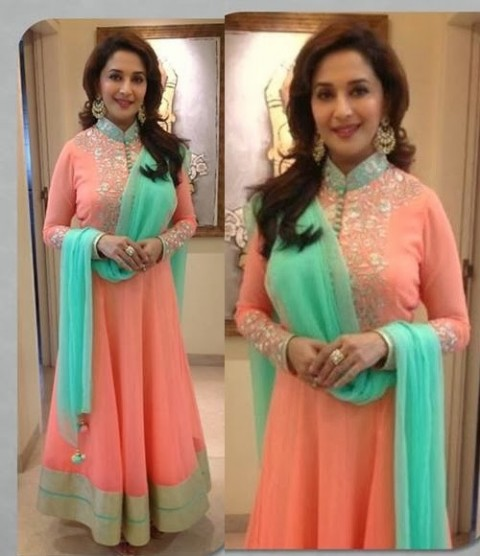 Madhuri-Dixit-Wear-Beautiful-Anarkali-Frock-Suits-and-Bollywood-New-Fashion-Sarees-Pics-1