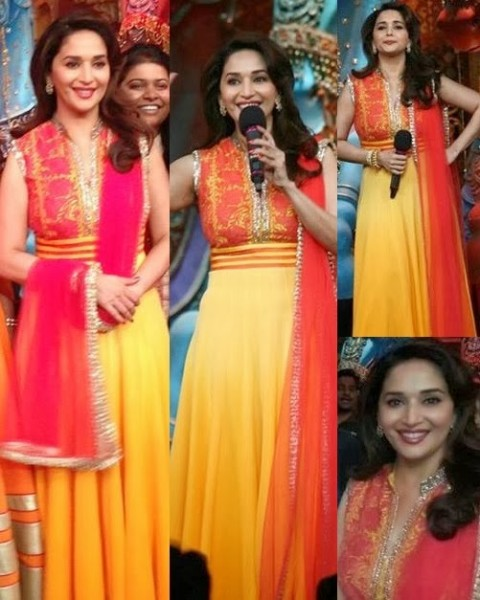 Madhuri-Dixit-Wear-Beautiful-Anarkali-Frock-Suits-and-Bollywood-New-Fashion-Sarees-Pics-10