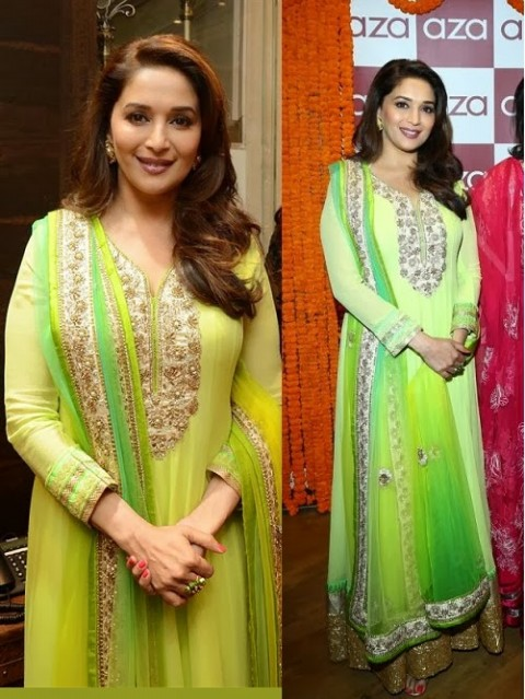 Madhuri-Dixit-Wear-Beautiful-Anarkali-Frock-Suits-and-Bollywood-New-Fashion-Sarees-Pics-3