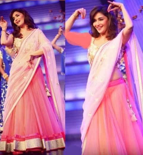 Madhuri-Dixit-Wear-Beautiful-Anarkali-Frock-Suits-and-Bollywood-New-Fashion-Sarees-Pics-8