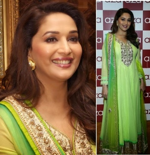 Madhuri-Dixit-Wear-Beautiful-Anarkali-Frock-Suits-and-Bollywood-New-Fashion-Sarees-Pics-