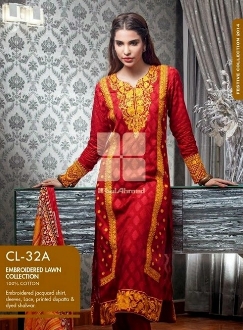 Beautiful-Girls-Women-Wear-New-Fashion-Outfits-Suits-Catalogue-by-Festive-Eid-Gul-Ahmed-14