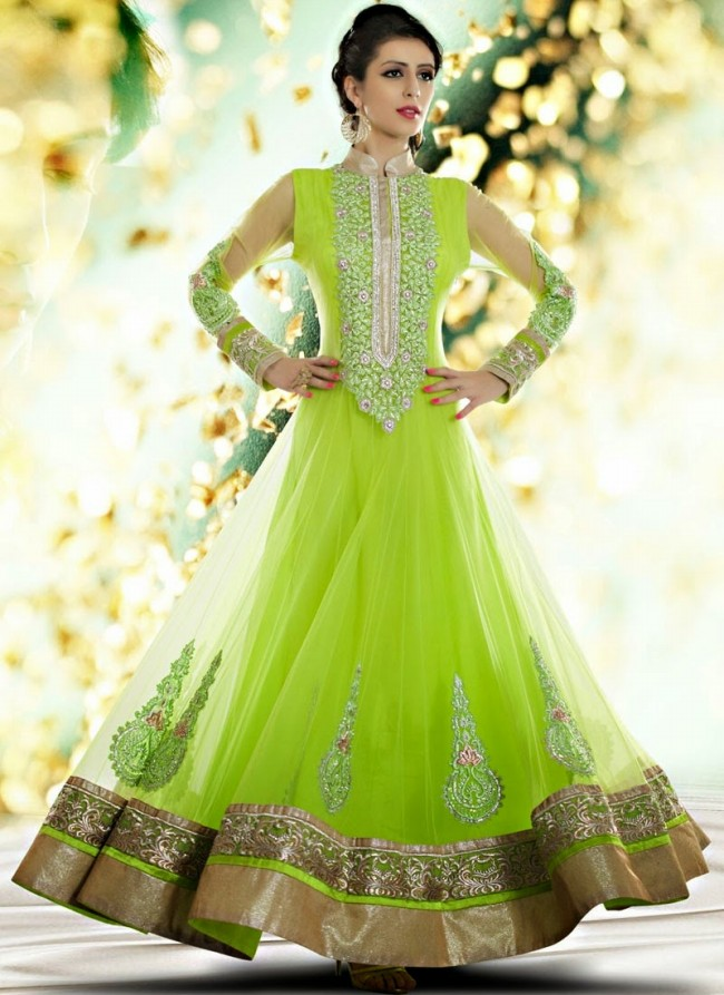 Fashion Mag: Indian Royal Wedding-Bridal Wear Long Anarkali Fancy ...