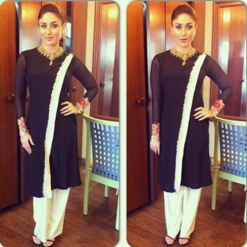 Bollywood-Indian-Celebrity-Kareena-Kapoor-in-Designers-Beautiful-Outfit-Dress-5