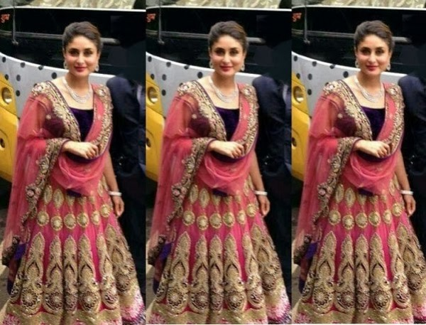 Bollywood-Indian-Celebrity-Kareena-Kapoor-in-Designers-Beautiful-Outfit-Dress-