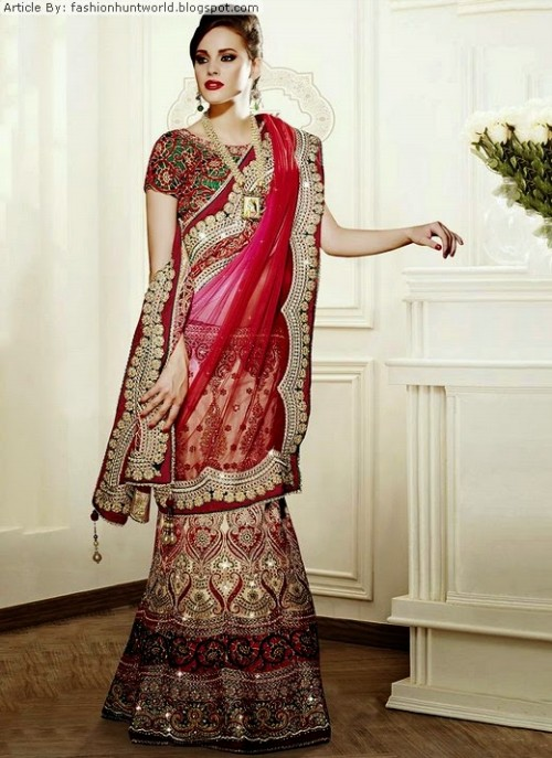 Bridal-Wedding-Lehengas-Choli-And-Sarees-Sari-Latest-Fashion-for-Girls-Womens-12