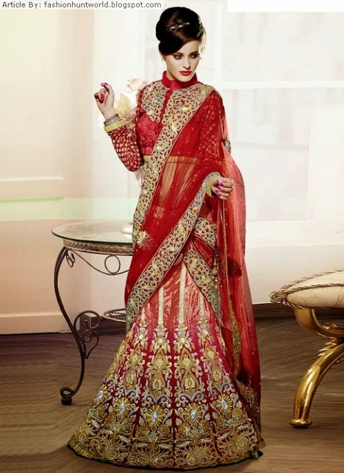 Bridal-Wedding-Lehengas-Choli-And-Sarees-Sari-Latest-Fashion-for-Girls-Womens-2