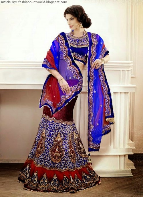 Bridal-Wedding-Lehengas-Choli-And-Sarees-Sari-Latest-Fashion-for-Girls-Womens-6