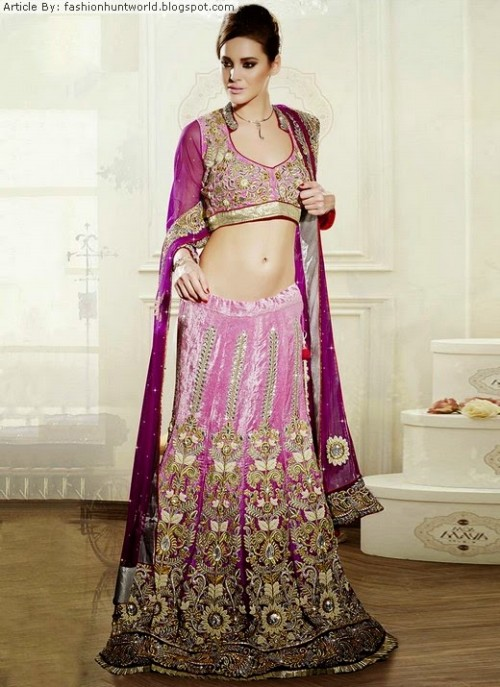 Bridal-Wedding-Lehengas-Choli-And-Sarees-Sari-Latest-Fashion-for-Girls-Womens-9