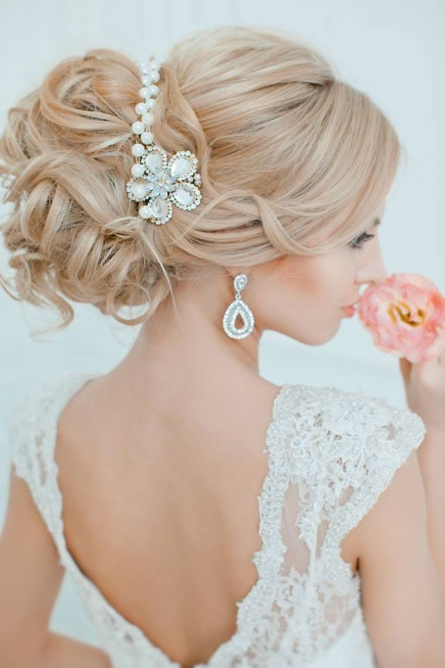 Stylish Bridal Wedding Hairstyle 2014 2015 For Brides And Party