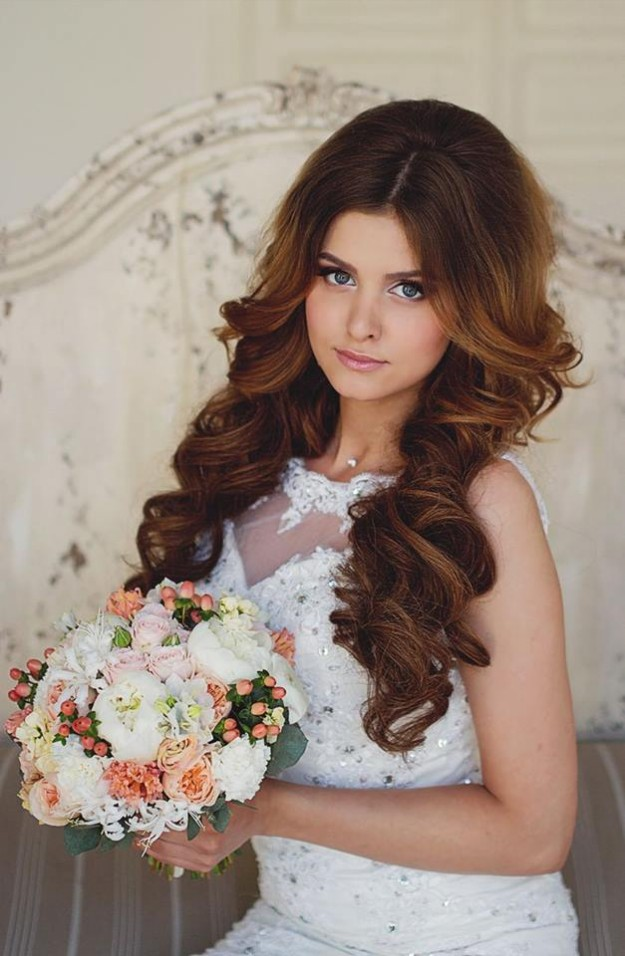 Stylish Bridal Wedding Hairstyle 2014 2015 For Brides And Party Reception For Girls Women