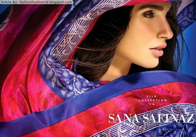 Women-Girls-Wear-Beautiful-Mid-Summer-Spring-Silk-New-Fashion-Dress-by-Sana-Safinaz-2