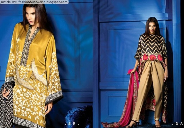 Women-Girls-Wear-Beautiful-Mid-Summer-Spring-Silk-New-Fashion-Dress-by-Sana-Safinaz-3