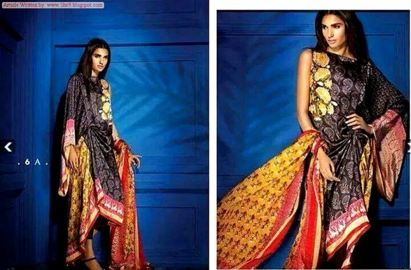 Women-Girls-Wear-Beautiful-Mid-Summer-Spring-Silk-New-Fashion-Dress-by-Sana-Safinaz-