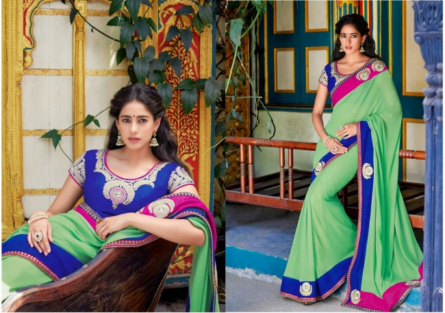 Womens-Girls-Wear-Indian-Festive-Stylish-Classy-Sari-New-Fashion-Blouse-Sarees-1
