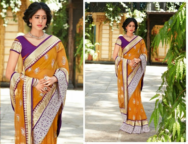 Womens-Girls-Wear-Indian-Festive-Stylish-Classy-Sari-New-Fashion-Blouse-Sarees-4
