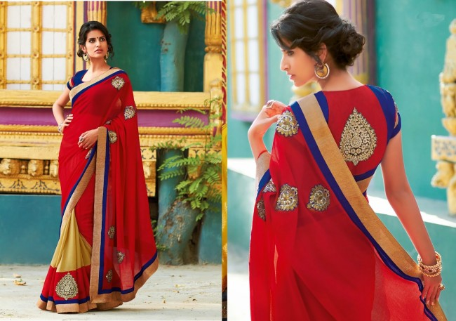 Womens-Girls-Wear-Indian-Festive-Stylish-Classy-Sari-New-Fashion-Blouse-Sarees-5