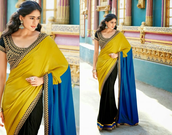 Womens-Girls-Wear-Indian-Festive-Stylish-Classy-Sari-New-Fashion-Blouse-Sarees-6