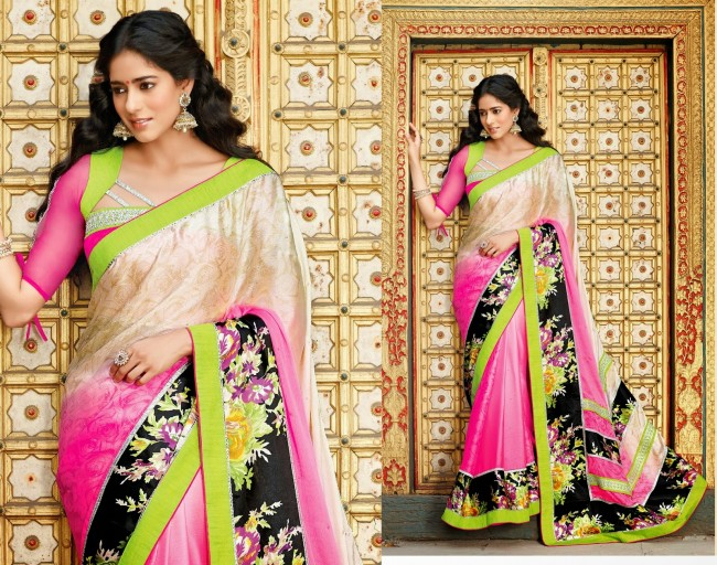 Womens-Girls-Wear-Indian-Festive-Stylish-Classy-Sari-New-Fashion-Blouse-Sarees-7