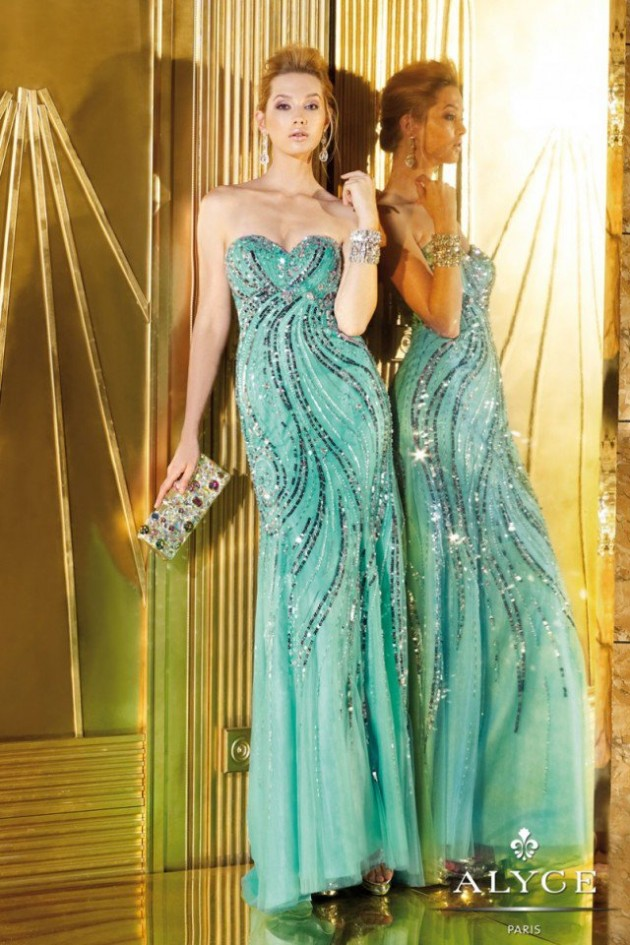 Wedding-Bridal-Evening-Night-Party-Wear-New-Fashion-Gorgeous-Gown-Suits-by-Alyce-23