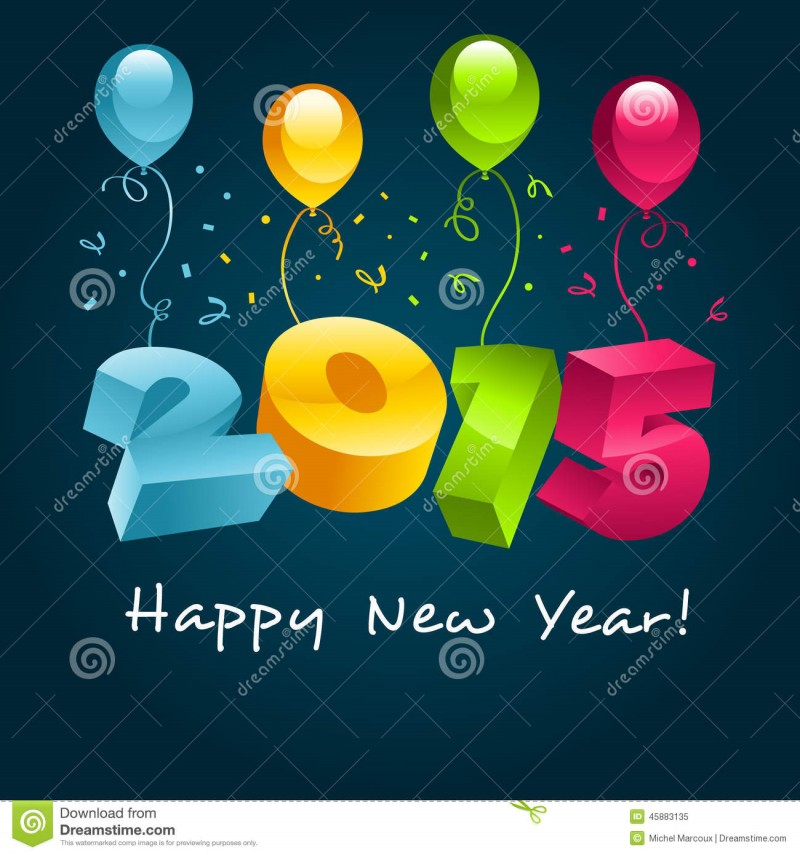 Animated-3D New Year Cards 2015 Wallpapers-Happy New Year