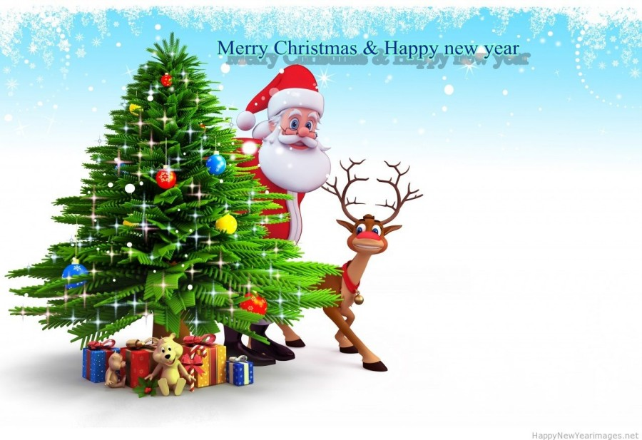 Christmas Cards 2014 and New Year 3D-Animated Greeting Cards Designs ...