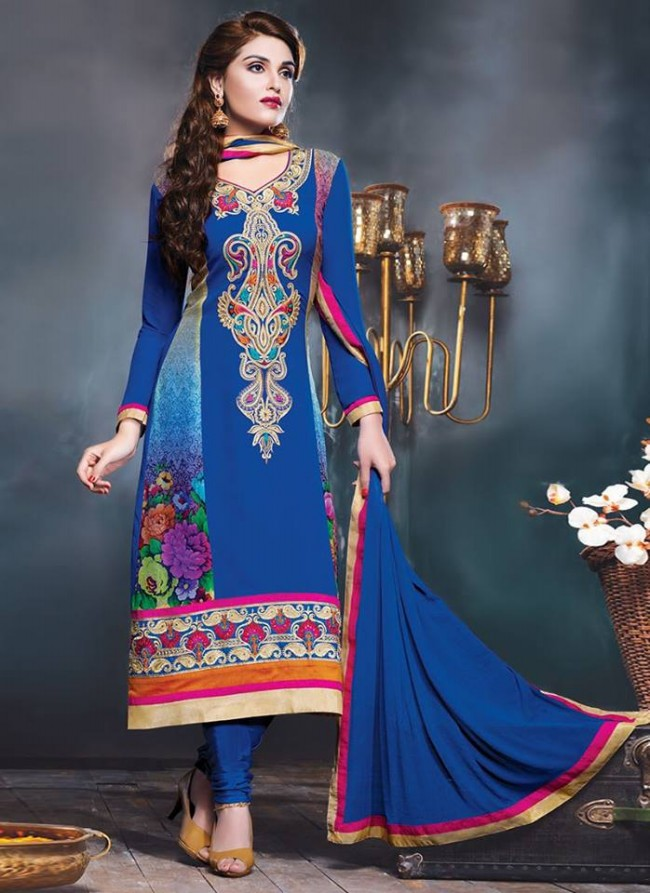 Anarkali Georgette Churidar Salwar-Kameez Suits New Fashion Dress for Girls-Women by Cbazaar-1
