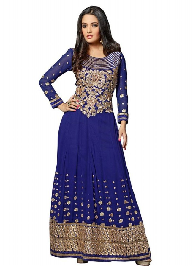 Anarkali Georgette Churidar Salwar-Kameez Suits New Fashion Dress for Girls-Women by Cbazaar-2