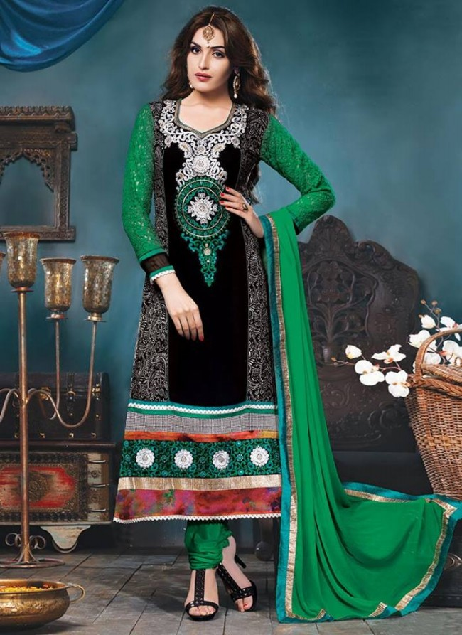 Anarkali Georgette Churidar Salwar-Kameez Suits New Fashion Dress for Girls-Women by Cbazaar-6
