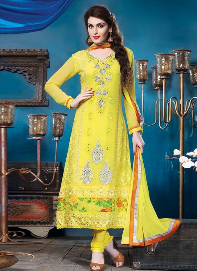 Anarkali Georgette Churidar Salwar-Kameez Suits New Fashion Dress for Girls-Women by Cbazaar-7