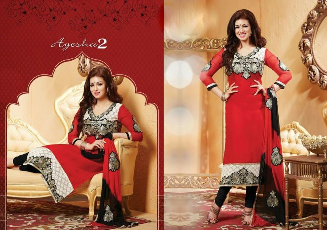Indian-Bollywood-Famous-Actress-Ayesha-Takia-Photos-in-Salwar-Kamiz-Suit-by-Saheli-Couture-
