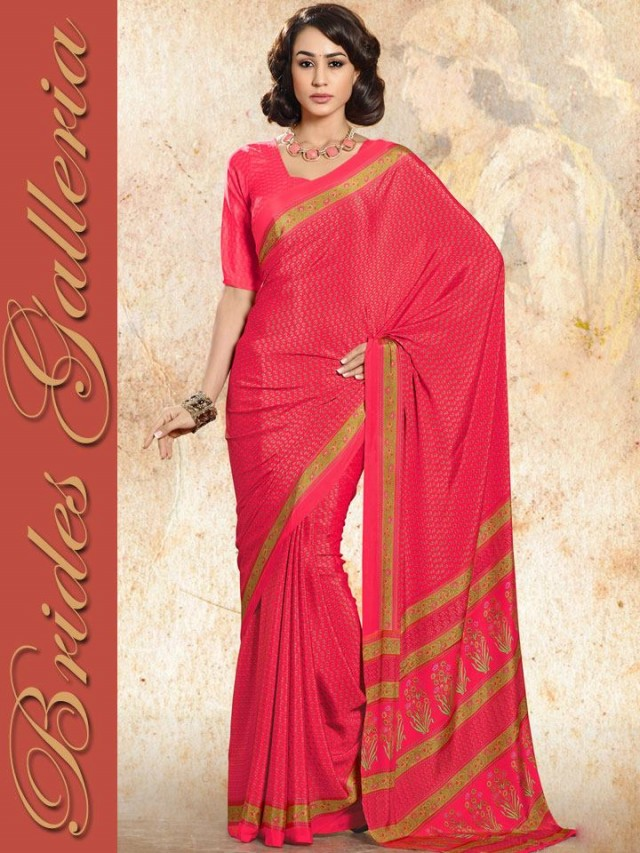 Indian-Bollywood Saree-Sari Designs New Fashion For Girls-Women by Brides Galleria-1