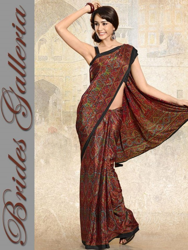 Indian-Bollywood Saree-Sari Designs New Fashion For Girls-Women by Brides Galleria-2