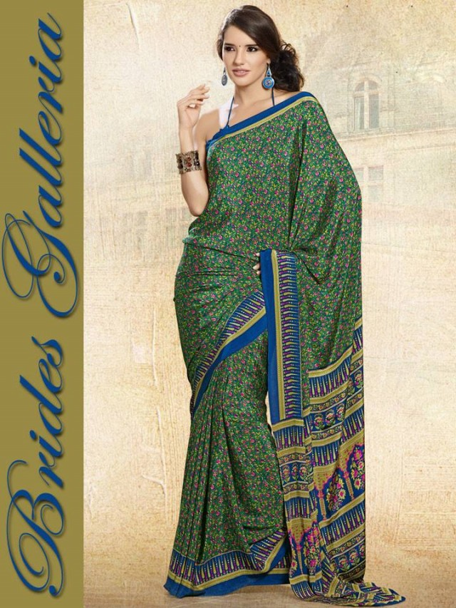 Indian-Bollywood Saree-Sari Designs New Fashion For Girls-Women by Brides Galleria-4