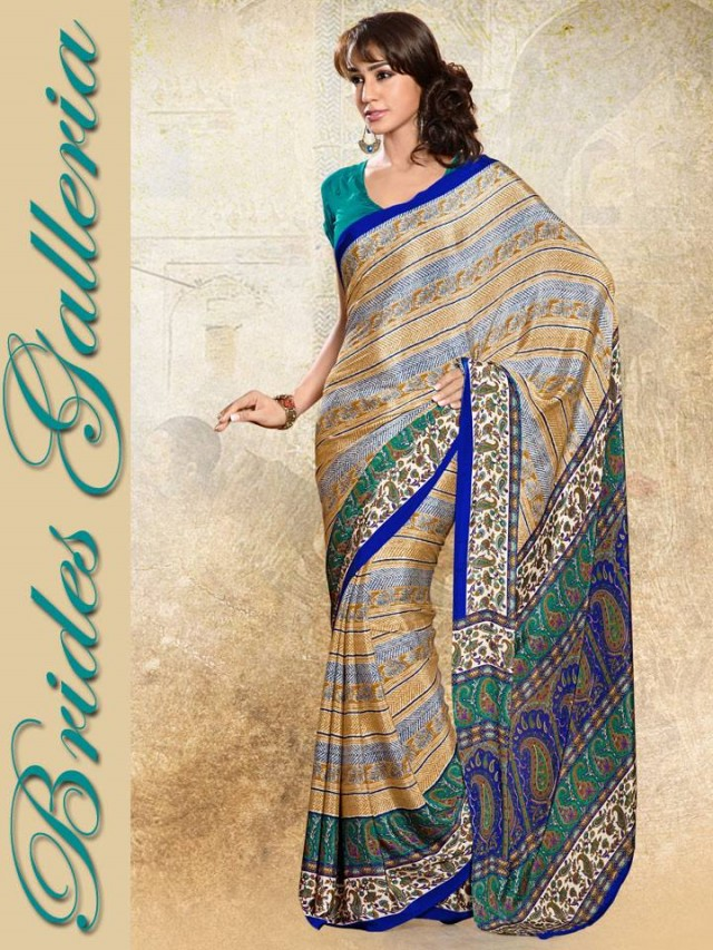 Indian-Bollywood Saree-Sari Designs New Fashion For Girls-Women by Brides Galleria-6